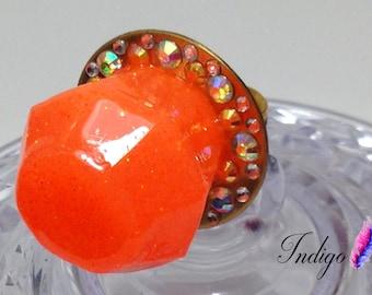 Tangerine Candy Rock Ring