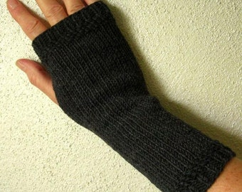 Fingerless Gloves / Arm warmersMerino, anthracite
