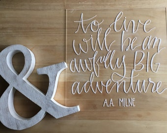Wedding acrylic sign: custom quote perfect for weddings, showers, and parties- 12x12