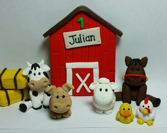 Farm Birthday Cake Topper