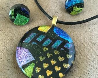 Hearts and Sparkle Pendant Set