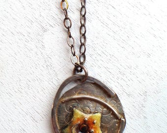 Star and Bezel Pendant