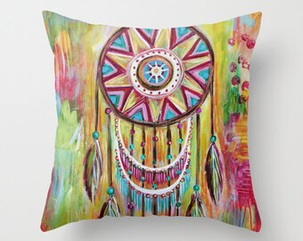 Catching Dreams Dreamcatcher Pillow Cover 16x16, 18x18 or 20x20