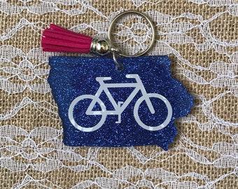 Blue Ride Iowa Keychain