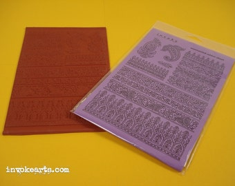 Paisley Patterns / Invoke Arts Collage Rubber Stamps / Unmounted Stamp Set