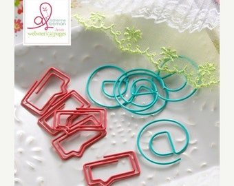 WOWZA Webster's Pages Paper Clips @ Symbols and Speech Bubbles