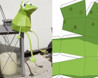 Papercraft Frog - PRE-CUT sheets