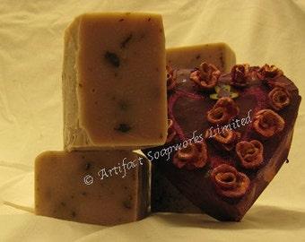 2lb Rose Petal Olive Oil Shea Soap Loaf - Vegan Friendly - Valentines