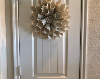 Vintage book flower wreath