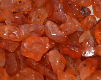 Natural Carnelian Chip Beads, Agate Stone Beads, 3mm x 7mm x 5mm