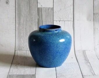 Wescontree Ware Candy Ware Blue Mottled Glazed Art Pottery Vase