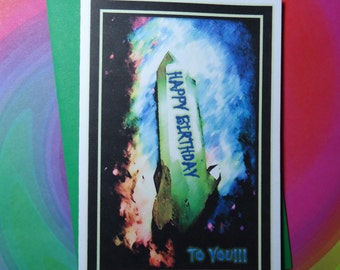 HAPPY BIRTHDAY Quartz Crystals Happy Birthday To You Card