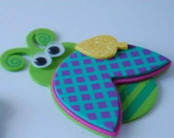 Foam Ladybug Craft Kit, Magnet Craft, Party Activity, Children's Crafts