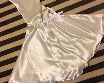 Dress up capes  / fits 3-7 years white satin pastel thread