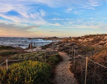 Sunset Drive, Path, Beach, Dunes, Central Coast, Monterey County, Carmel, California