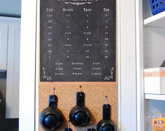 Kitchen Cooking Conversions - Printable Instant Download! Chalkboard Design Measurements Print File