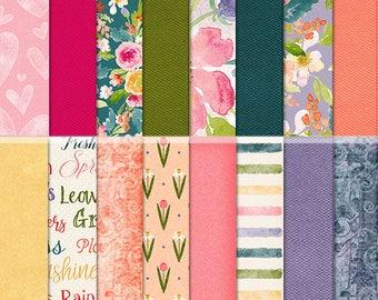 Beautiful Spring Digital Scrapbook Papers