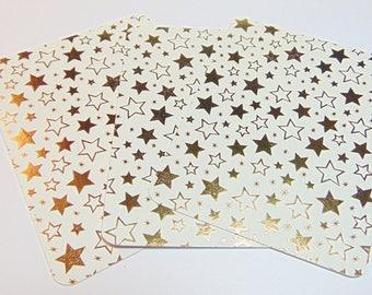 3x4 Golden Star Journal Cards Set of 4