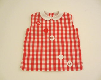 vintage cotton red and white gingham sleeveless blouse size 4 vintage childrens clothing vintage summer clothes for kids little girl top