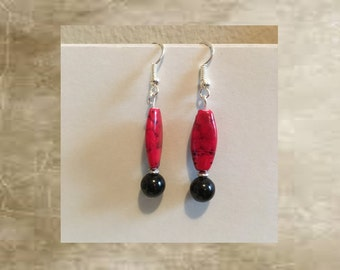 Red & Black Earrings