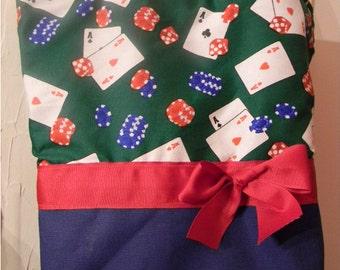 Aces High Gambler Poker CARDS Purse Tote BAG or Diaperbag