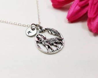 Wolf Jewelry  - Wolf Pendant - Wolf Necklace - Tiny Necklace - Howling Worlf Necklace - Friend Gift - Animal Lover Gift - Mom Gift - GF gift