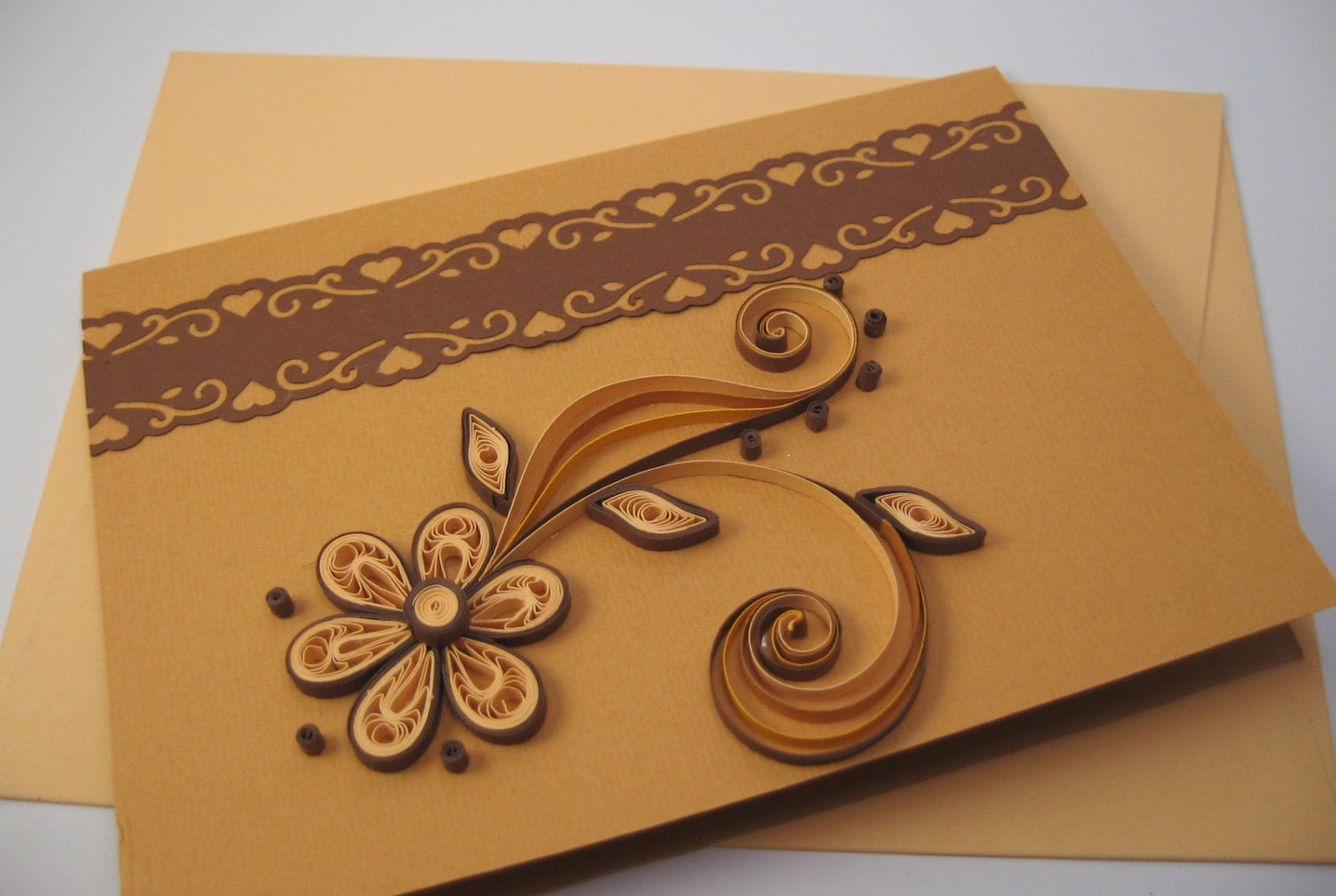 Quilled birthday card paper handmade greeting card thank zoom stopboris Choice Image