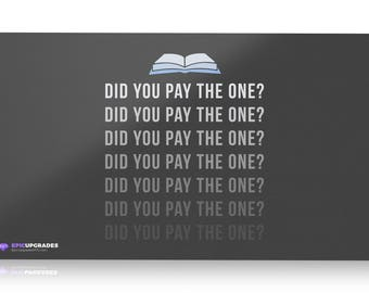 "Did you Pay the One? Rhystic Study EDH Playmat - Magic the Gathering Commander 24""x14"" Custom MTG *Free US Shipping!"
