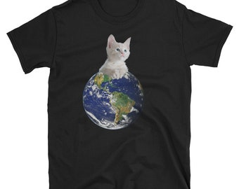 Space Kitten Ruler of Earth Funny T Shirt