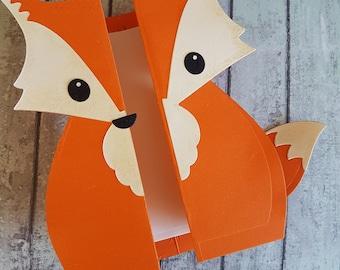 Fox handmade card / Cute fox folding card / Gatefold fox card / Fox birthday card /thank you card / just because card / Woodland animal card