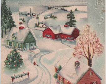 Winter greeting card etsy greetings at christmas christmas card c1950s used good shape vintage m4hsunfo