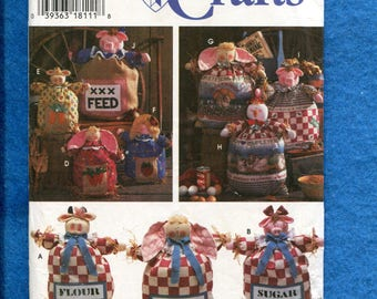 Simplicity 9612 Country Farm Animals in Feed Sacks UNCUT