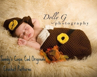 Baby Pilgrim Crochet Pattern Cocoon and Hat Set PDF 240