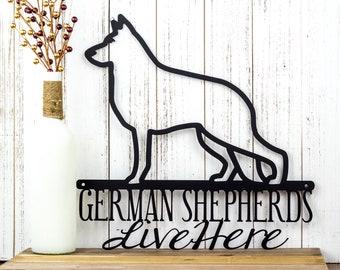 German Shepherd Metal Wall Art | German Shepherd Sign | Metal Sign | Dog Sign | Outdoor Sign | Wall Hanging | Gift | Sign