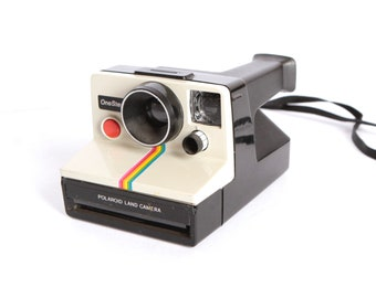 polaroid RAINBOW OneStep SX-70 film camera 80s works perfectly