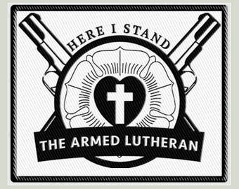 Armed Lutheran Morale Patch