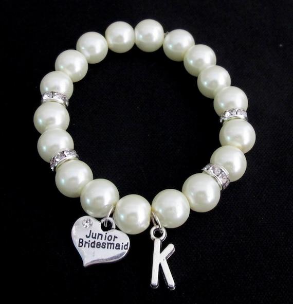 Junior Bridesmaid Bracelet, Pearl Bracelet Junior Bridesmaid Gift - Junior Bridesmaid Bracelet - Mini Bride Bracelet Free Shippin in USA