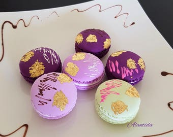 Handmade Fake Macarons for Display Set of 6 Faux Macaron Wedding Favours