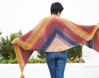 The Adirondack Wrap Scarf Shawl Crochet Pattern