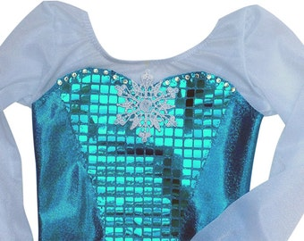 Frozen Leotard - Queen Elsa of Arendelle. New Design, available with or without Swarvoski Gems
