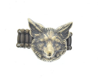 Fox  ring, one size fits all, sold 1 each, Ring-2