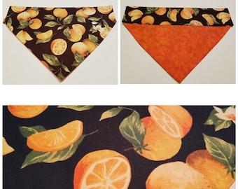 Oranges - Dog Bandana - Slip On Dog Bandana - Dog Gift - Orange Lover Gift - Orange Decor
