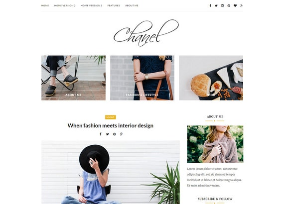 Wordpress theme-Wordpress template Feminine wordpress theme