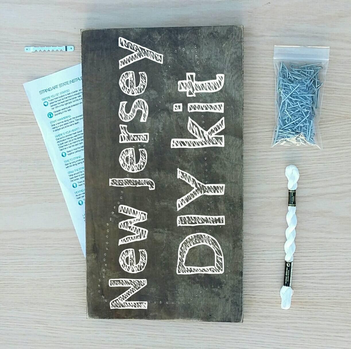DIY New Jersey String Art Kit State
