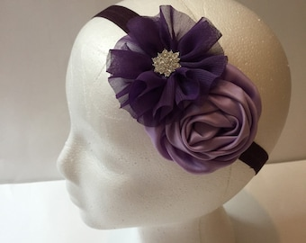 Plum purple and lavender girls headband, purple headband, girls lavender headband, girls plum headband