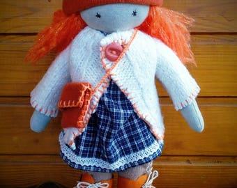 Red hair Waldorf Sprite - Waldorf inspired doll