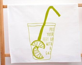 Gin & Tonic Print Tea Towel