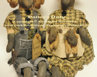 Primitive Sheep Family Pattern, Animal Patterns, Primitive Sheep, Sheep Patterns, Primitive Patterns, Primitive Animals, Country Farmhouse