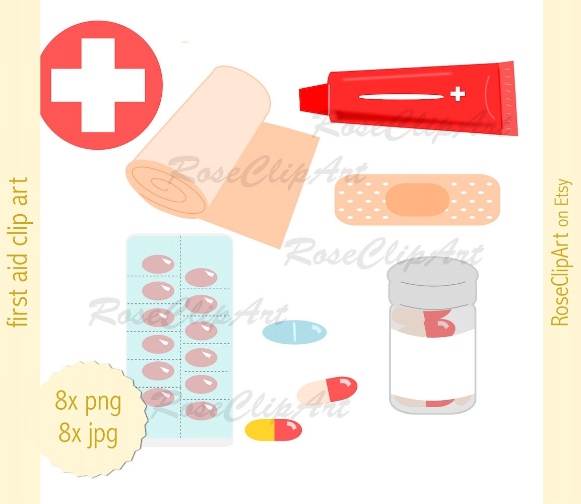 8x first aid kit supplies clipart instant download digital zoom publicscrutiny Image collections