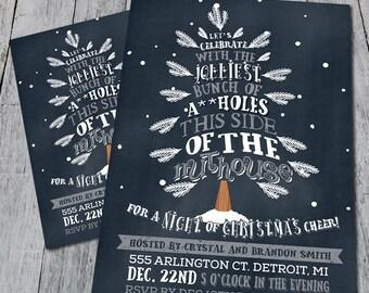 Jolly Christmas Party Invitation (Digital)